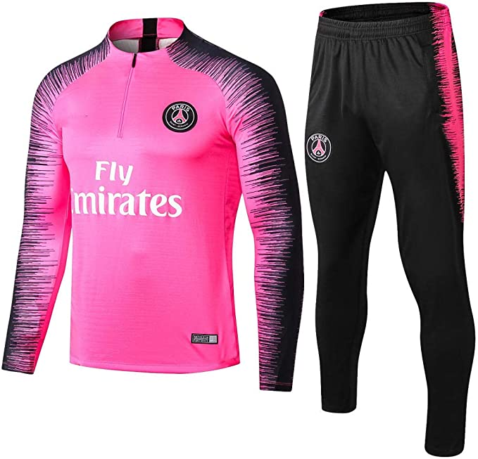 Paris Black Camiseta de Manga Larga de fútbol Primavera y otoño ...