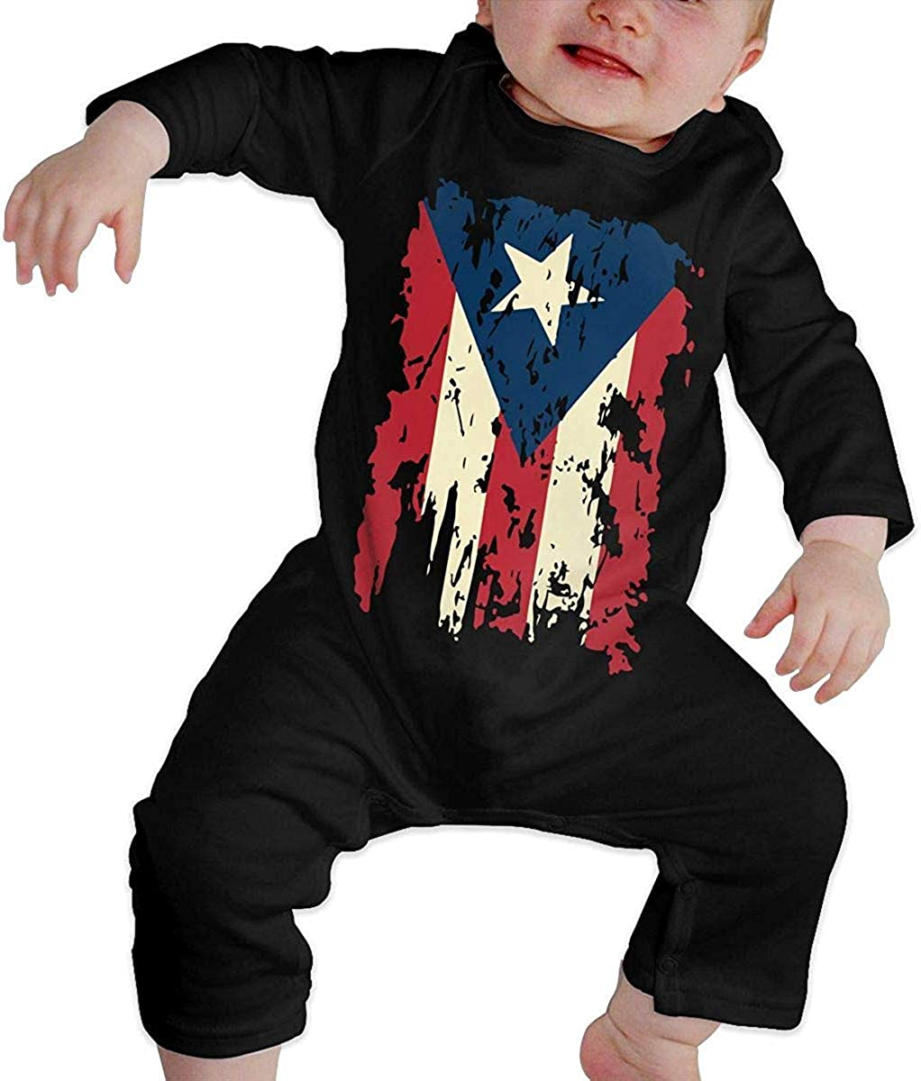 WlQshop Mono para Bebé,Mameluco Bebé Unisex Vintage Puerto Rico Flag Newborn Baby Long Sleeve Baby Girls Assorted Short Sleeve Bodies