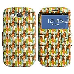 LEOCASE Personajes Divertidos Funda Carcasa Cuero Tapa Case Para Samsung Galaxy S3 I9300 No.1000400