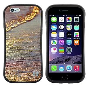 """Pulsar iFace Series Tpu silicona Carcasa Funda Case para Apple (4.7 inches!!!) iPhone 6 / 6S (4.7 INCH) , El oro brilla iridiscente mar de arena de Verano"""""""