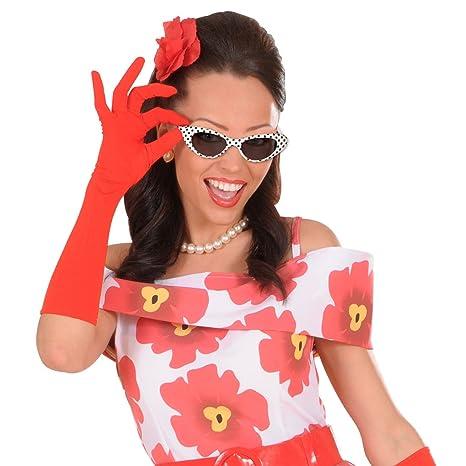 bc677e39ee89 Amakando Retro Sonnenbrille - gepunktet - 50er 60er Jahre Brille  Damenbrille 50er 60er Cat Eye Partybrille Faschingsbrille Damen Rockabilly  Cateye ...