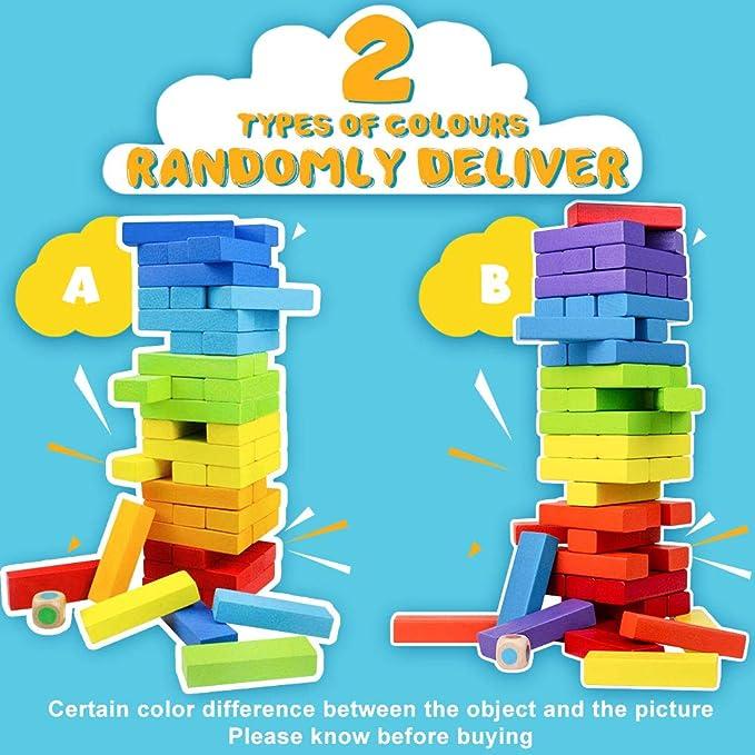 TONZE Juegos de Mesa Juguetes Madera Montessori Juguetes Madera de Colores Juego para Adultos e Infantil: Amazon.es: Juguetes y juegos