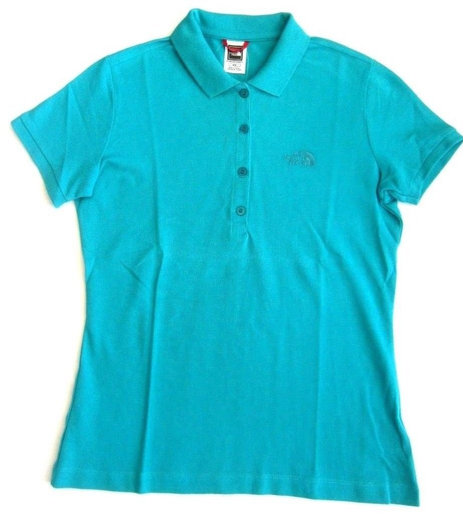 The North Face Mujer Polo w Polo Piquet Camiseta Viridian Green S ...