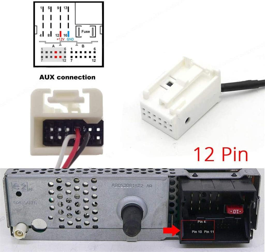 Shine Adattatore Bluetooth per auto per Peugeot 307 407 508 Citroen C5 C6 interfaccia musicale stereo AUX per Peugeot Citroen con radio RD4 RD45 Blaupunkt VDO Bosch