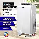 DEVANTi Portable Heater Air Conditioner Reverse Cycle Fan Dehumidifier 22000BTU