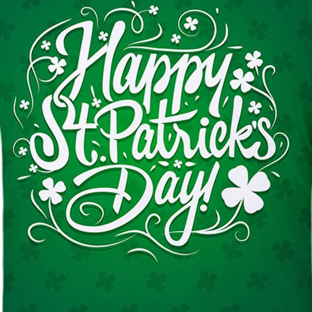 Short Sleeve Round Neck Clovers Print Muscle Shirt Only Left Mens Tops Patricks Day Green T Shirts for Men MISYAA St