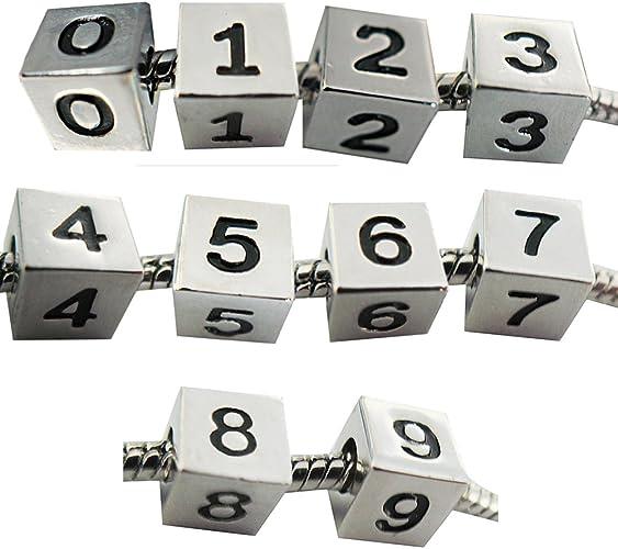 Amazon.com: Windsor Sterling Number Charms - Number 1, 2, 3, 4, 5 ...