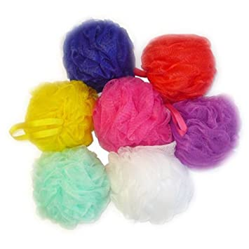 Amazon Aquasentials Small Mesh Pouf 40 Pack Shower Pouf Adorable Mini Loofah Poufs