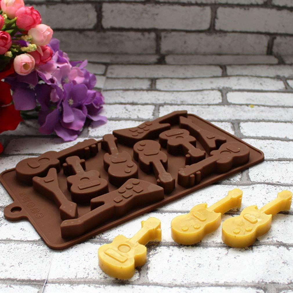 Forma di Chitarra e Nota Stampi in Silicone per Cioccolatini//Caramelle al caff/è//Cubetti di Ghiaccio//Gelatina//Mini Sapone #3 KBstore 2 Pezzi Stampo in Silicone per Cioccolato