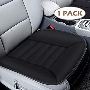 MYFAMIREA Car Seat Cushion Pad Sciatica Pain Relief Comfort Seat Protector for Car Driver Seat Office Chair Home Use Memory Foam Seat Cushion with Non Slip Bottom Black
