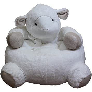 Elegant Childrens Plush Sheep Chair