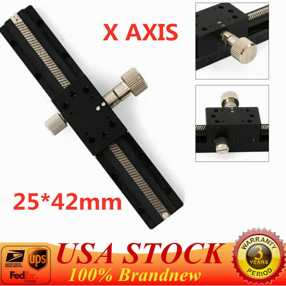 25mm42mm Sliding Stage Platform Trimming Bearing Tuning Dovetail Slide Table Adjustment X Axis Manual Linear Stage Manual Sliding Stage Cross Slide Table Worktable