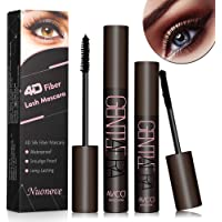 4D Silk Fiber Lash Mascara, 4D Silk Mascara Waterproof, 4D Mascara, Long-Lasting, No Clumping, No Smudging, Longer, Thicker, Black