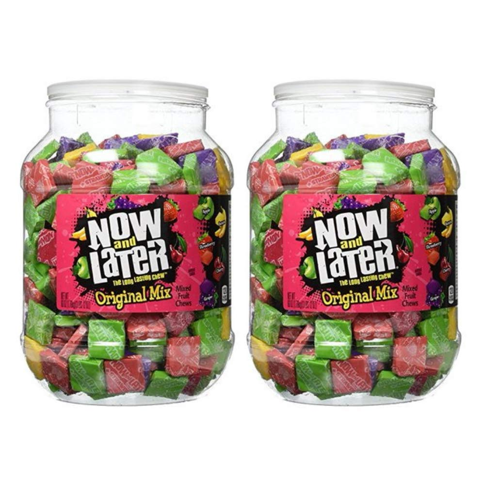Now & Later Original Mixed Fruit Chews Assorted 60 Ounce Jar by Now and Later