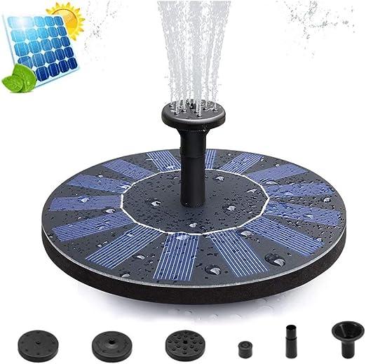 Upworld Bomba de Fuente Solar, 2020 Nuevas Fuente Solar Flotantes Bomba de Agua Solar Fuente Jardín (con 4 boquillas) para Baño de Pájaros, Pecera, Estanque, Piscina, Jardín y Césped: Amazon.es: Jardín