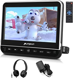 PUMPKIN 10.1 Inch Headrest Car DVD Player with Free Headphone, Support 1080P Video, HDMI Input, AV in Out, Region Free, USB SD, Mounting Brackets Included