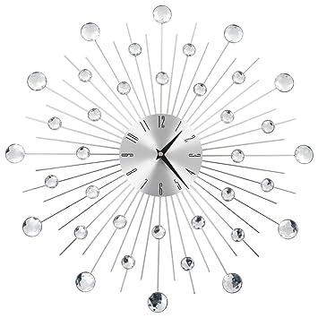 vidaXL Reloj Pared Moderno Diseño Rayos Original Decoración Salón Cocina Baño: Amazon.es: Hogar