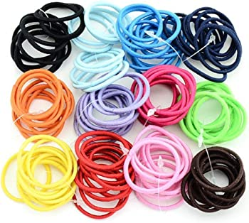 100-Pieces Wumedy Elastic Hair Ring Hair Ponytail Holder