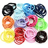 Zippem 100 Pcs/Set Kids Fashion Casual Cute Headwear Elastic Hair Ring Hair Rope Elastics & Ties
