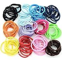 Ultrey 100 Pcs/Set Kids Fashion Casual Cute Headwear Elastic Hair Ring Hair Rope Clips & Barrettes