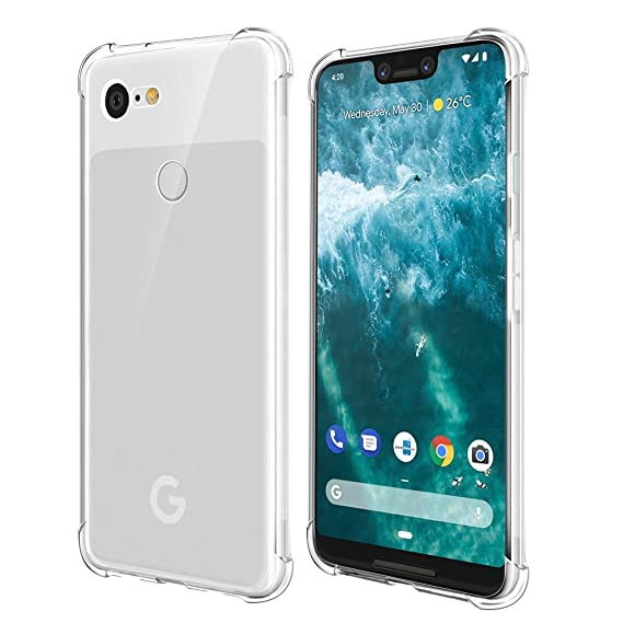 new style 00382 4d26f Qoosea Compatible with Google Pixel 3XL Case Cover Clear