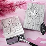 15 Angel Themed Silver Compact Mirrors