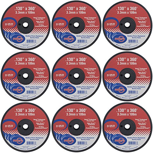Rotary Nine (9) Pack of Vortex Trimmer Line 12177 .130 x 360, 3 LBS Spools by Rotary