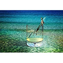 LAMINATED 35x24 Poster: Mermaid Sea Water Water Glass Drinking Glass Ice Cubes Cooling Fantasy Fairy Tales Water Creature Female Woman Romantic Wave Pose Sit Composing Sensual