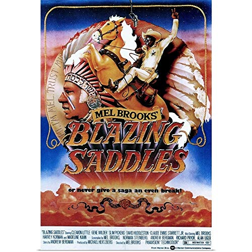 - GREATBIGCANVAS Poster Print Entitled Blazing Saddles - Vintage Movie Poster by 24