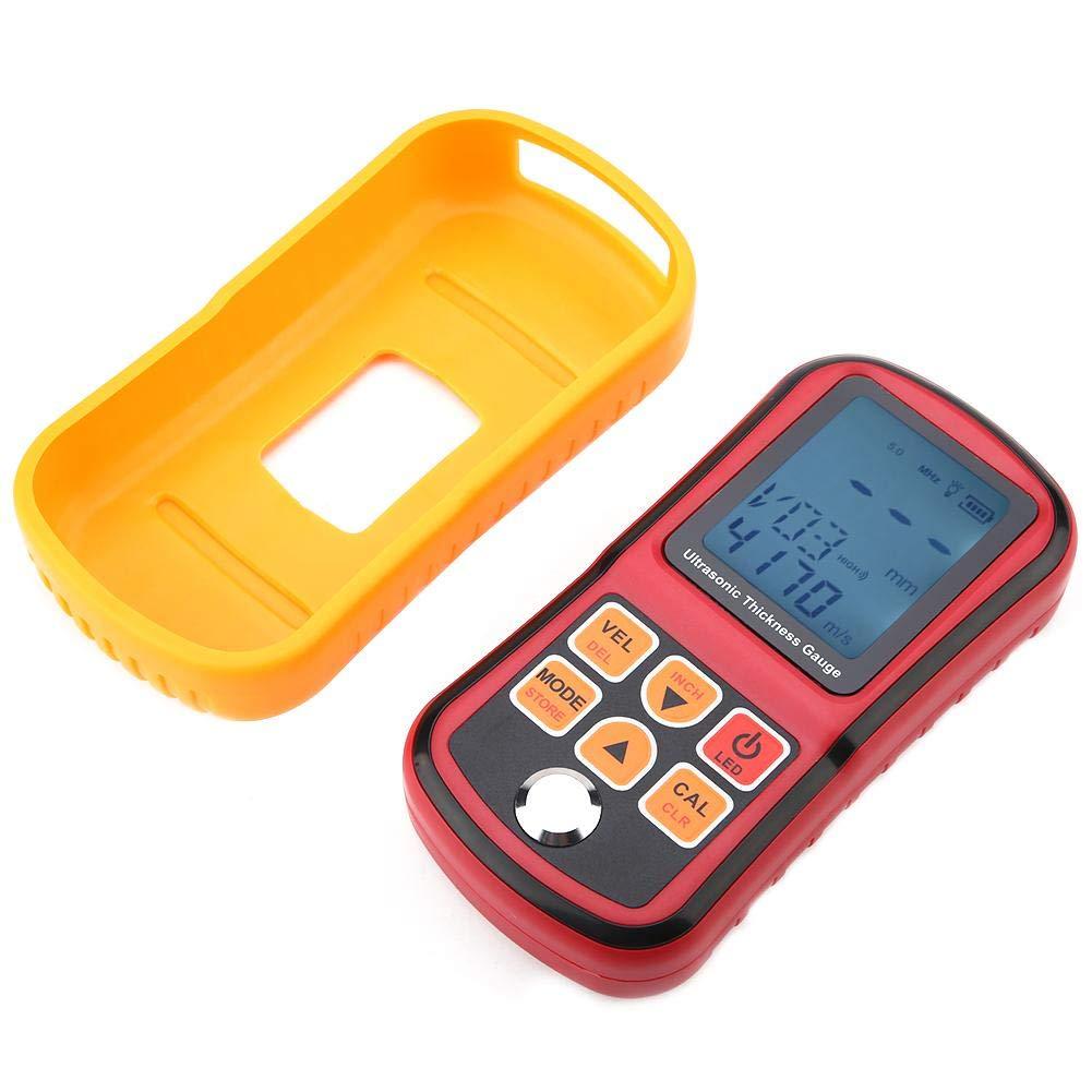 Ultraschalldickenmessger/ät GM130 Digital Tester Gauge 12 sound Geschwindigkeit 1-300mm Metallbreite Pr/üfmonitor