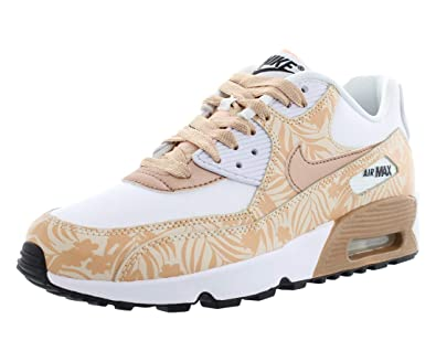 66254442ade48 NIKE Air Max 90 Print LTR Running Girls Shoes Size