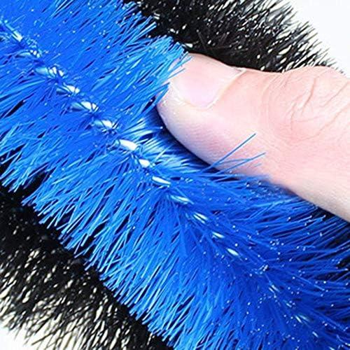 FGHGFCFFGH Spazzola per Pulizia mozzi Pneumatici per Auto Ruota per Pneumatici per motocicli Ruota per Pneumatici Spazzola per Lavaggio Strumento per la Pulizia della Polvere per Auto Blu-Blu e Nero