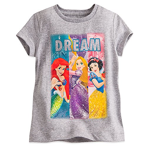 217ca301 Amazon.com: Disney Princess Dream Tee for Girls Gray: Clothing
