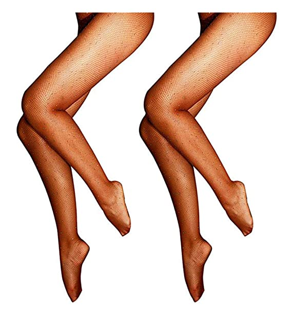 d5634bff268e0 Image Unavailable. Image not available for. Color: Onous 2 Pair Women's  Hollow Out Rhinestone Fishnet Stockings Tights ...