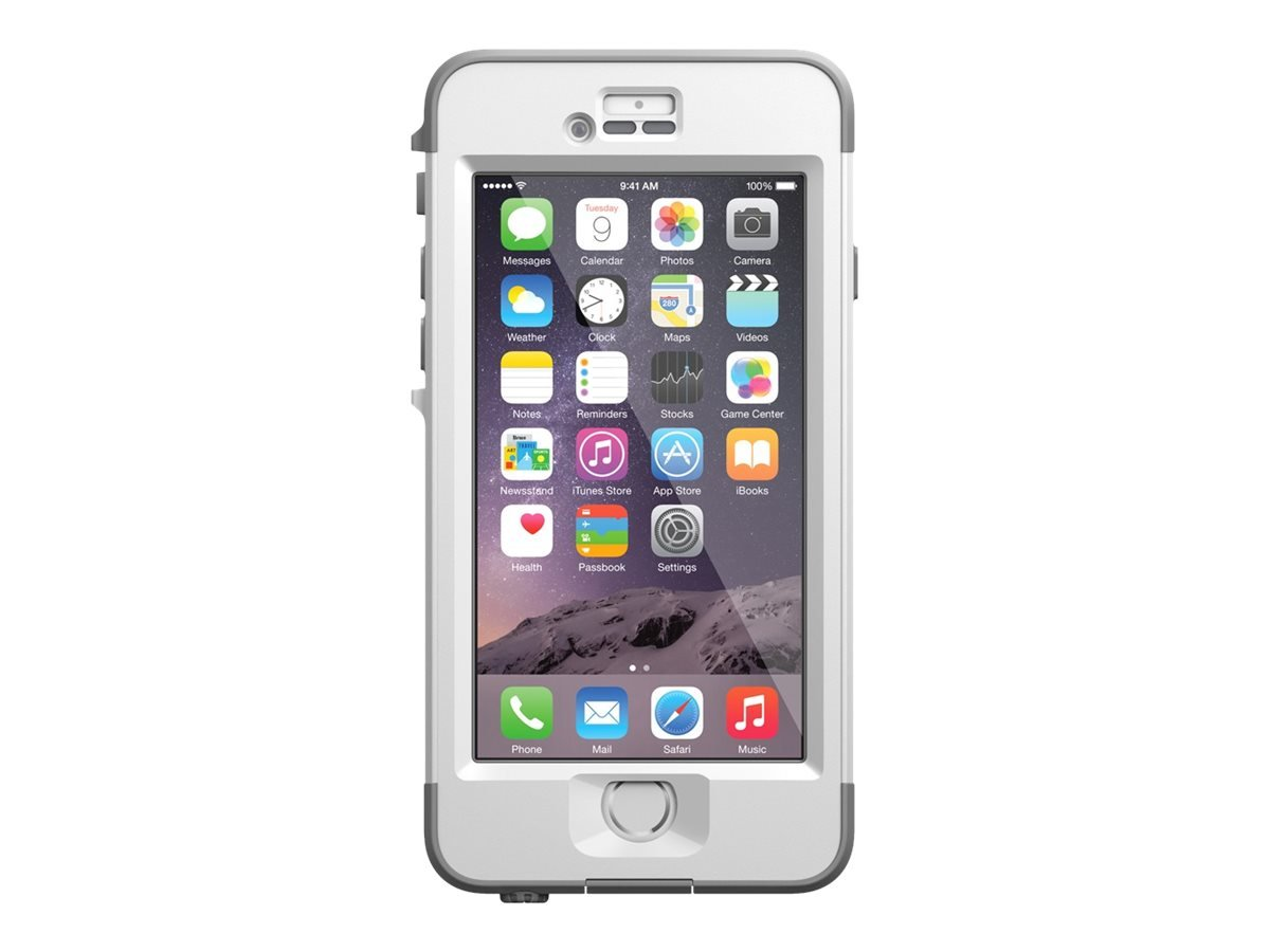 LifeProof NUUD iPhone 6 ONLY Waterproof Case (4.7'' Version) - Retail Packaging - AVALANCHE (BRIGHT WHITE/COOL GREY)