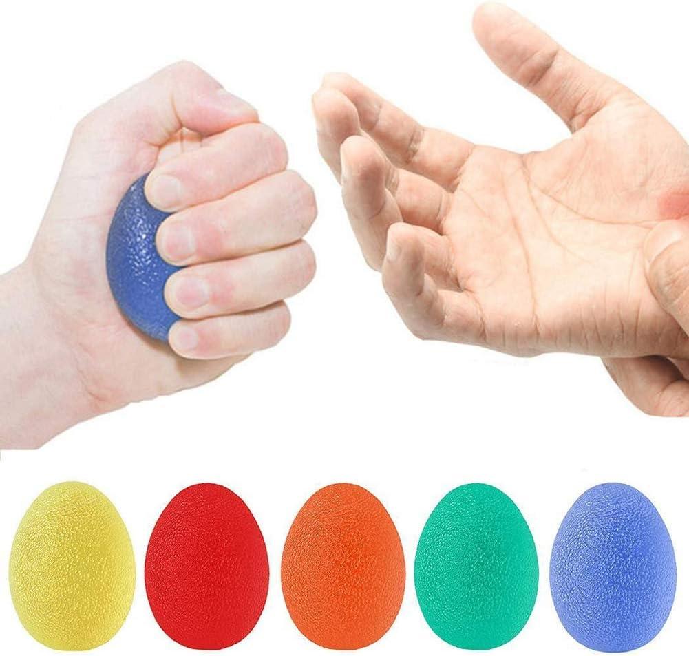 collectsound - Pelota de Mano portátil para aliviar el estrés, descomprimir y apretar, Color al Azar