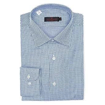 pierre cardin White & Blue Shirt Neck Shirts For Men