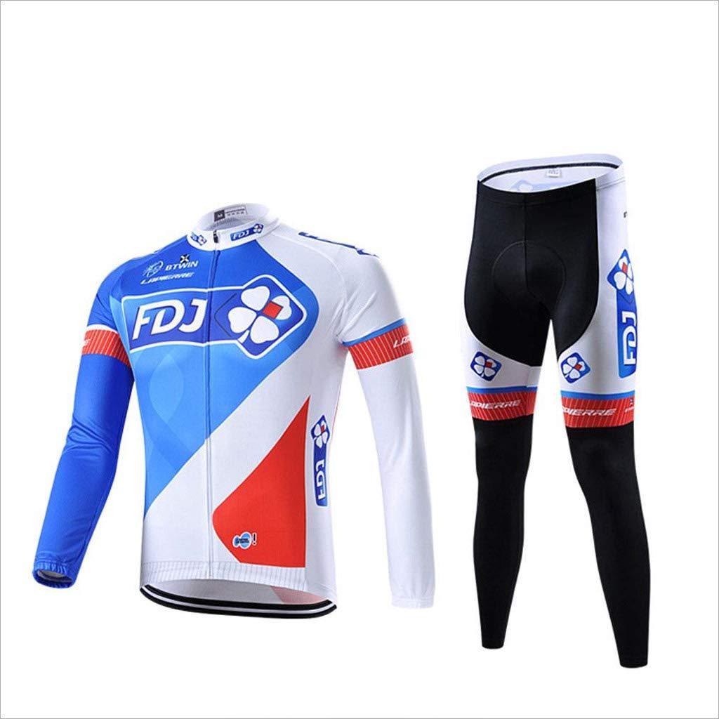 Lilongjiao Langarm-Jersey-Anzüge für Männer und Frauen Stil Frühling und Sommer Sommer Radfahren Shirt Fahrrad Kleidung Anzug Sportswear