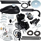 Iglobalbuy 26' & 28' Bicycle 50CC 2-Stroke Motor Engine Kit for Motorized Bicycle Black