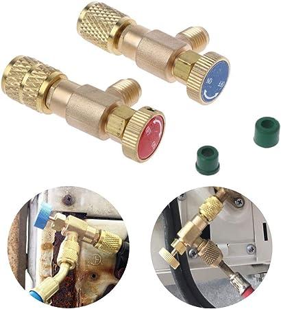 Klimaanlage Schnellkupplung 1//4 Zoll A//C Stecker Adapter 6,8 x 2,5 x 2cm