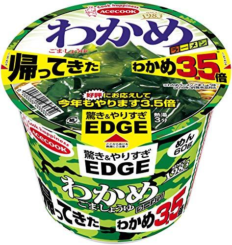 Acecock EDGE×미역 라면 참깨・간장 돌아왔다 미역3.5배 95g×12개 들이 (1케이스)