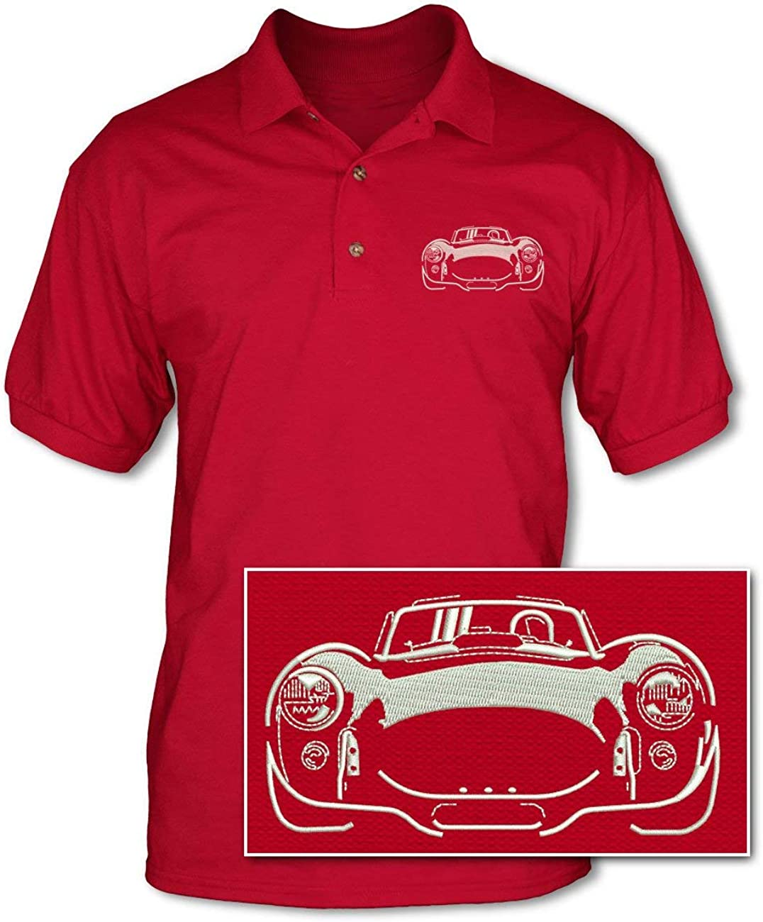 Carroll Shelby Official Cobra Supersnake Men/'s Premium Polo Shirt