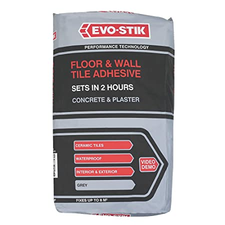 Evo Stik 30811874 20 Kg Floor And Wall Tile Adhesive Grey Amazon