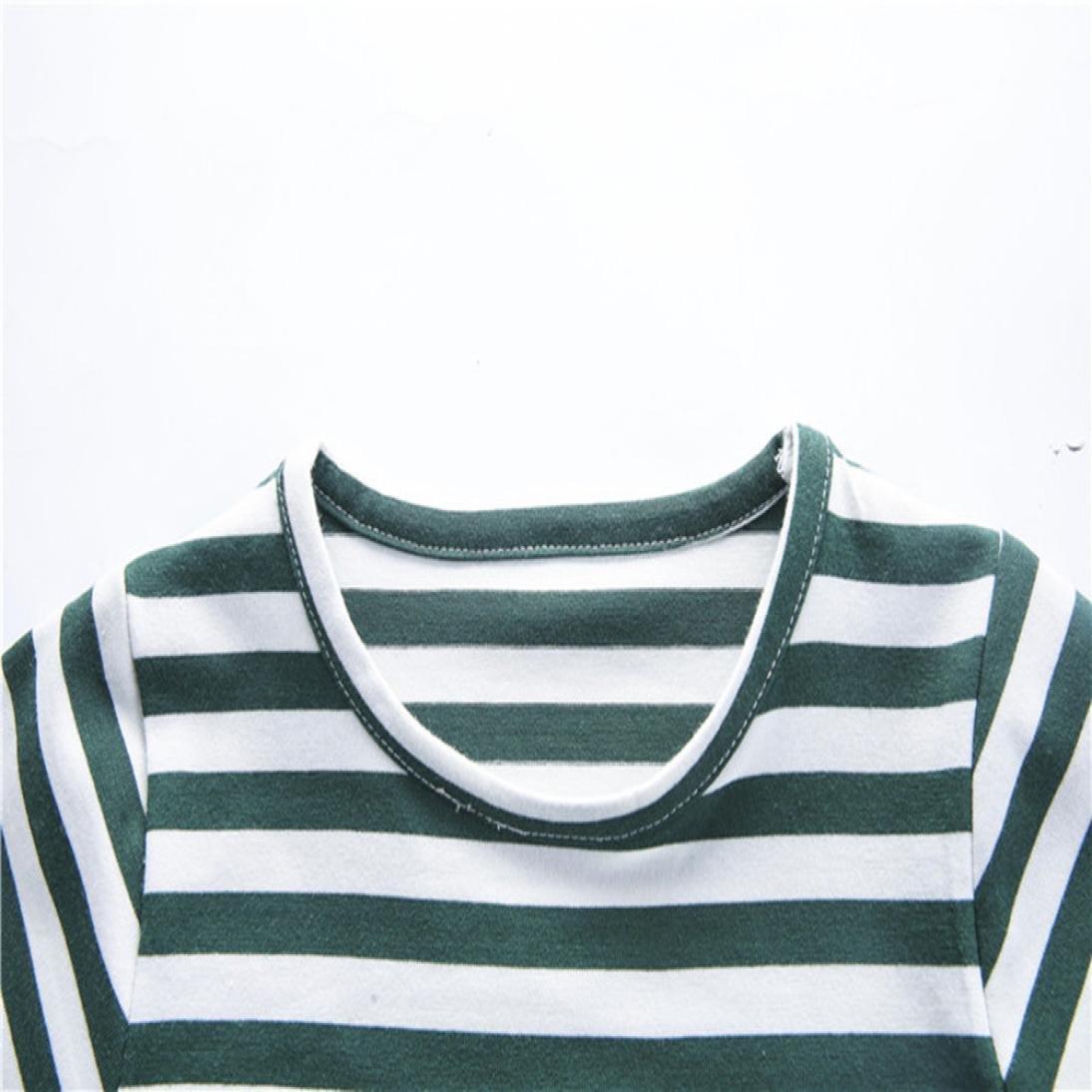PAOLIAN Conjuntos de Ropa para ni/ños reci/én Nacidos beb/é Verano Camisetas Embroidered de Dinosaurs Pantalones Cortos Impresion de Rayas de 12 Meses 18 Meses 24 Meses 3 a/ños 4 a/ños