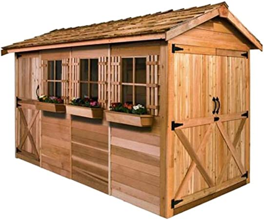 Amazon Com Cedarshed Shed 12 X 8 Ft Boathouse Garden Shed