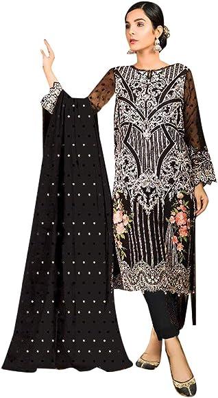 Amazon.com: Designer Trendy - Traje negro pakistaní musulmán ...