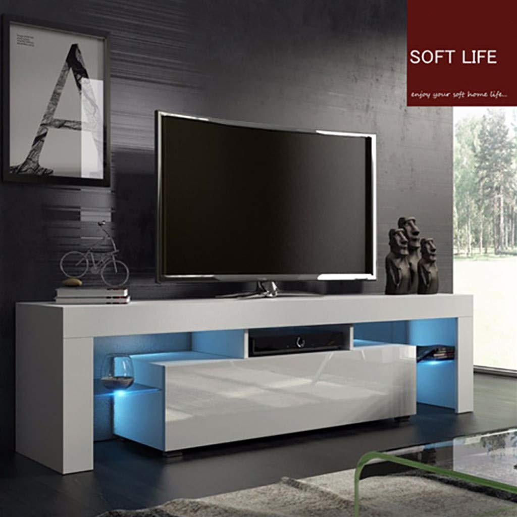 Amazon.com: 51\'\' TV Cabinet, Fulijie Modern White TV Cabinet ...