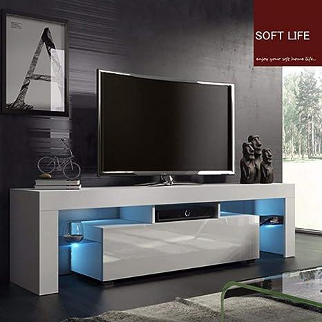 Sensational Amazon Com Telaite Tv Stands With High Gloss Led Lights Evergreenethics Interior Chair Design Evergreenethicsorg
