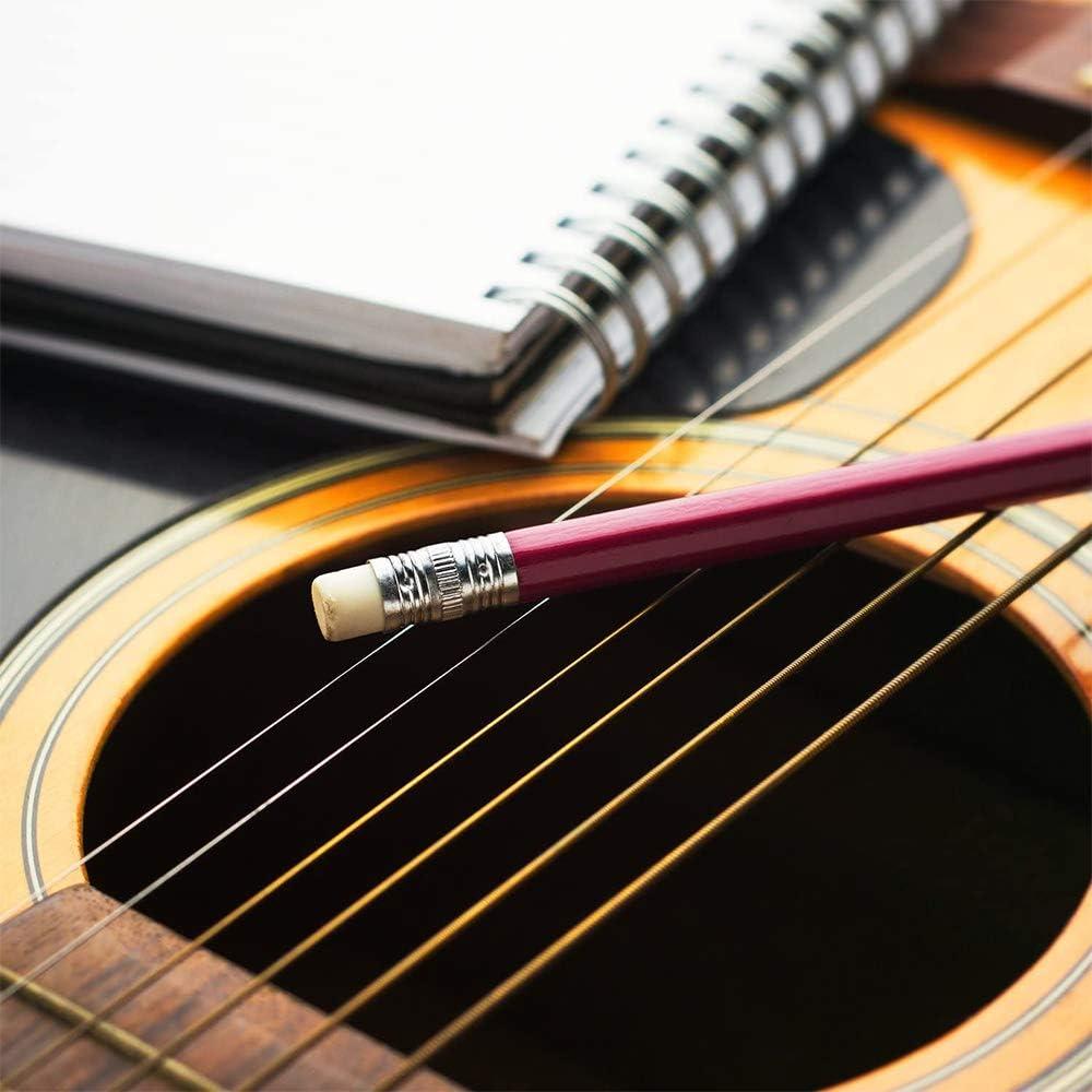 para guitarra el/éctrica guitarra ukelele bajo cuerdas en oro y colorido conjunto de cuerdas de guitarra ac/ústica 18 piezas cuerdas de guitarra de reemplazo de cuerdas de acero