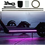 Sumeier Colorful Led Strip Lights for Xiaomi M365 / M365 Pro Electric Scooter Accessories, Durable Foldable Light-Up Bottom Cover Plate Light (Black)